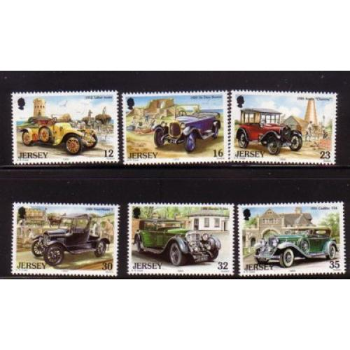 Jersey Sc  471-76 1989 Vintage Cars stamp set mint NH