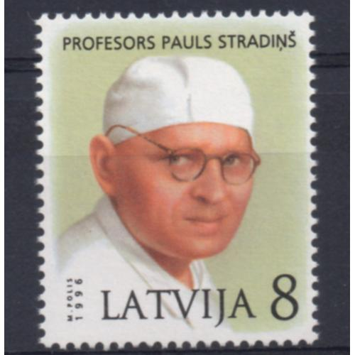 Latvia Sc 413 1996 Pauls Stradins stamp mint NH