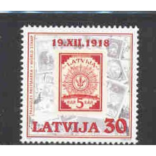 Latvia Sc 474 1998 World Stamp Day, stamp  mint NH