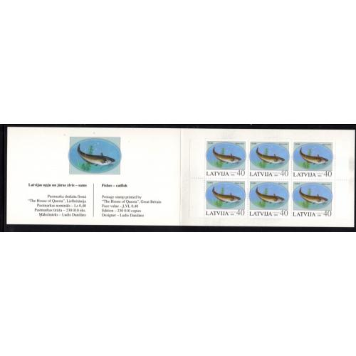 Latvia Sc 556a 2002 Fish Amsterdam stamp booklet mint NH