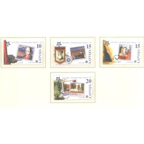 Latvia Sc 633-36 2006 50th Anniversary Europa stamp set  mint NH
