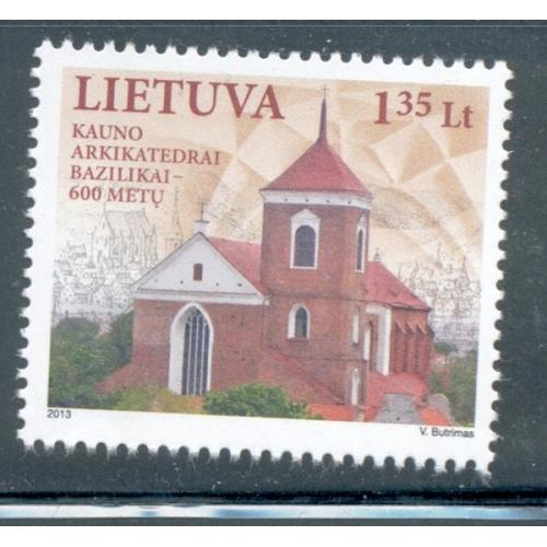 Lithuania Sc 1002 2013 Kaunas Cathedral stamp mint NH