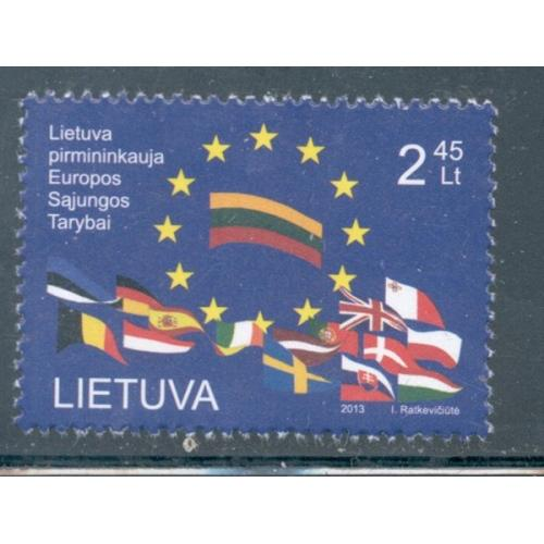 Lithuania Sc 1003 2013 European Council Presidency stamp mint NH