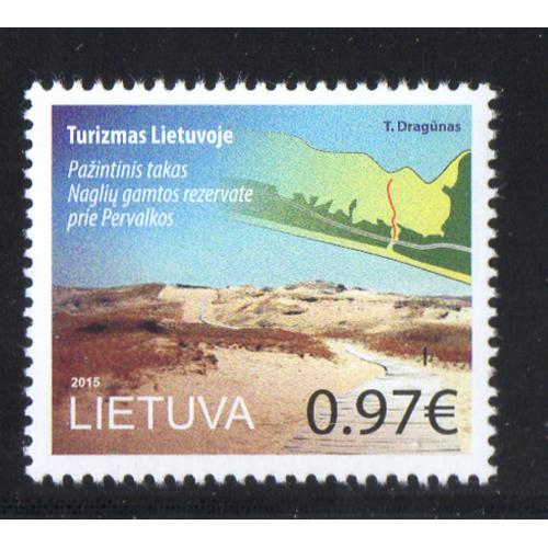 LIthuania Scott 1053 2015 Pervalka Nature Preserve stamp mint NH