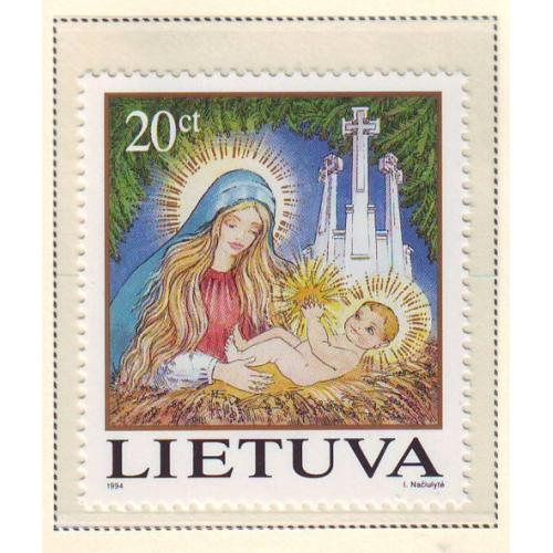 Lithuania Sc 505 1994  Christmas stamp mint NH