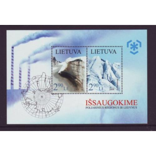 Lithuania Sc 890 2009 Polar Regions stamp sheet mint NH