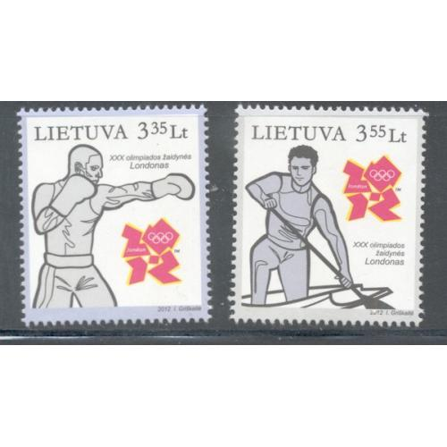 Lithuania Sc 978-79 2012 Summer Olympics stamp set mint NH
