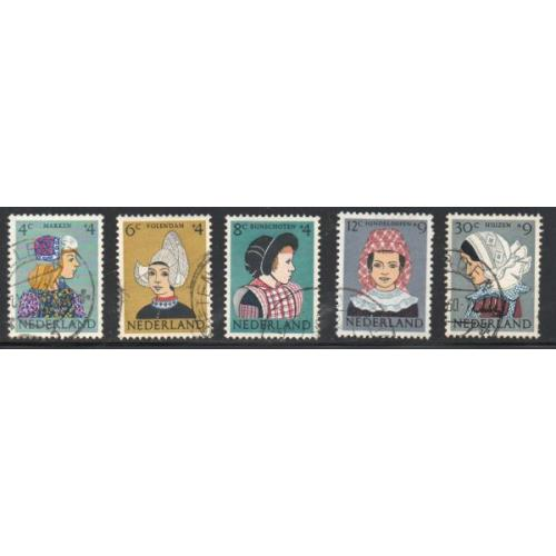 Netherlands Sc B348-52 1960 Regional Costumes stamp set used