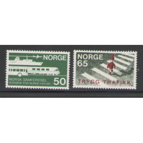 Norway Sc 531-32 1969 Traffic Safety & Communications stamp set mint NH