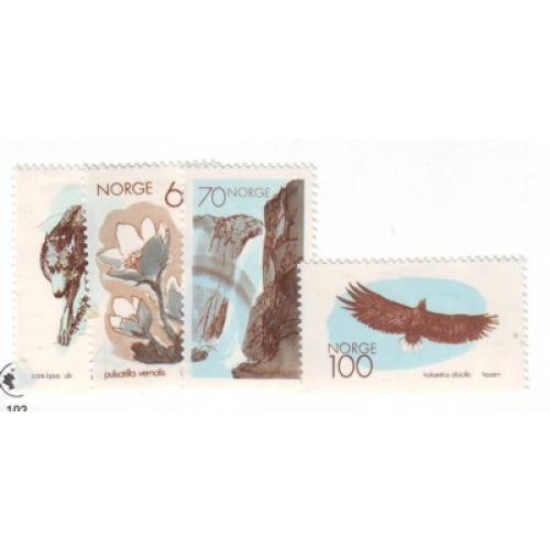 Norway Sc 551-54  1970 European Nature Conservation Year stamp set mint NH