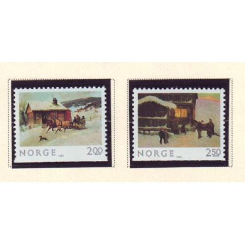 Norway Sc 831-32 1983 Christmas stamp set mint NH