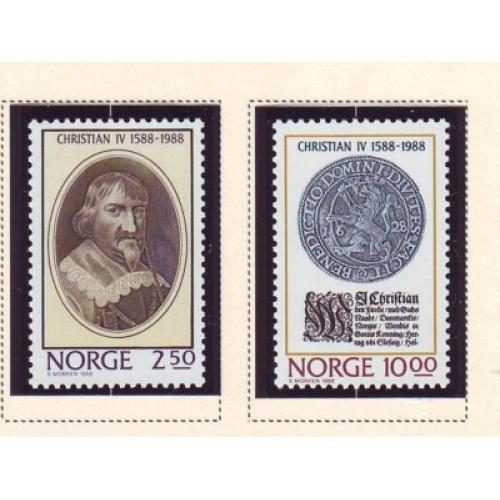 Norway Sc 932-33 1988  Christian IV stamp set mint NH