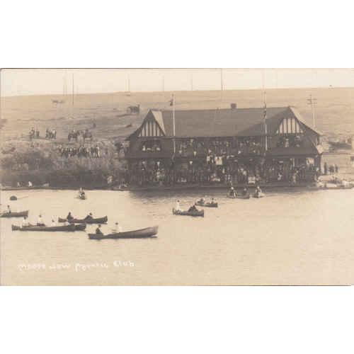 Moose Jaw Acquatic Club Black & White Picture Post Card