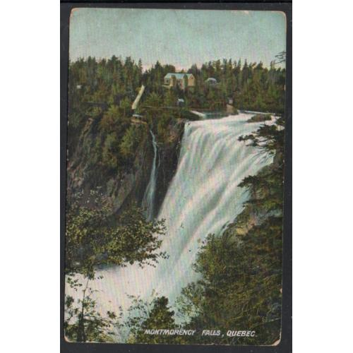 Early Colour PC Montmorency Falls, Quebec unused