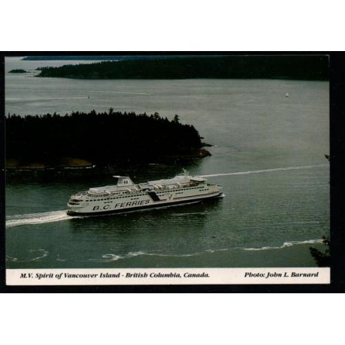 Chrome pc Ferry Spirit of Vancouver Island unused