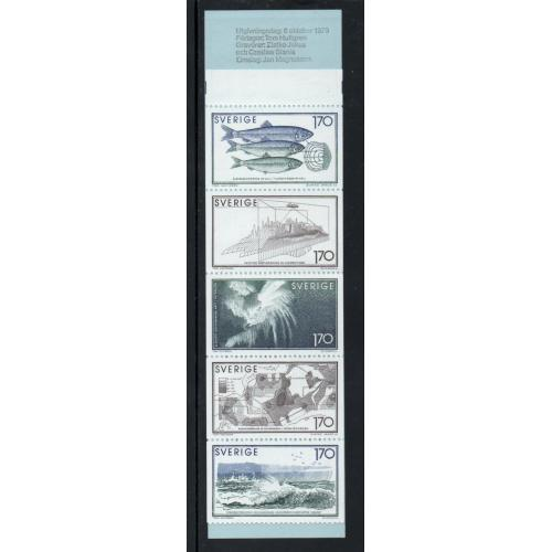 Sweden Sc  1303a 1979 Sea Research stamp booklet  mint NH