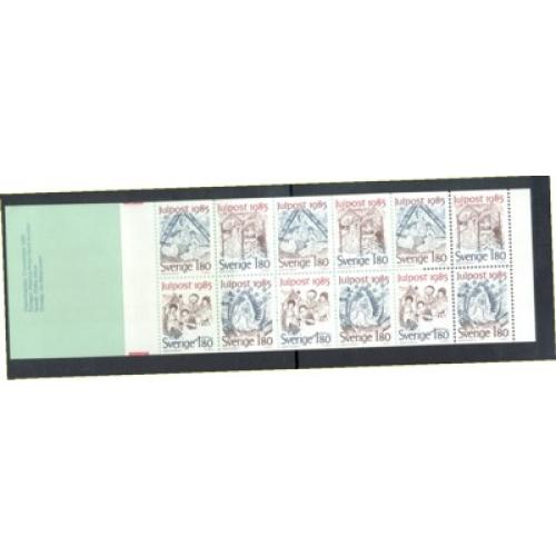 Sweden Sc 1561a 1985 Christmas stamp booklet  mint NH